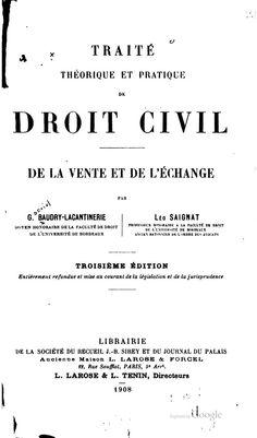 Gabriel Baudry - Lacantinerie (14 de junio de 1837 — 10 de enero de 1913), jurista francés.