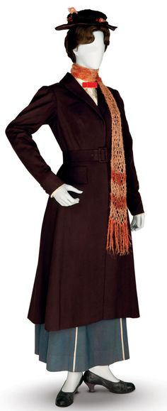 Of course!! Now it all makes sense!!! Did Mary go to Hogwarts??? Mary Poppins Costume | Mary Poppins ' traveling costume