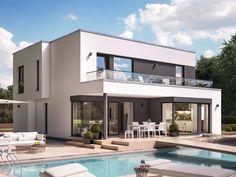Fantastic 163 V7 • Designerhaus von Bien-Zenker • Fertighaus mit Wintergarten-Erker und überdachter Terrasse • Jetzt bei Musterhaus.net informieren!