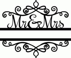 Silhouette Design Store - View Design #72836: mr. & mrs. split title
