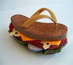 food is used on shoe designs
