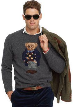 Polo Ralph Lauren Argyle Polo Bear Wool Sweater