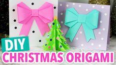 DIY Christmas Origami Projects - HGTV Handmade Christmas Arts And Crafts, Christmas Origami, Holiday Crafts, Christmas Diy, Diy Paper, Paper Crafts, Diy Crafts, Happy Birthday Jesus, Origami Easy