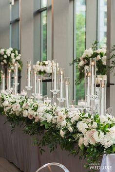 Refinement of the secret garden Table Centerpieces, Wedding Centerpieces, Wedding Table, Wedding Decorations, Garden Wedding, Diy Wedding Flowers, Wedding Flower Arrangements, Flower Bouquet Wedding, Arc Floral