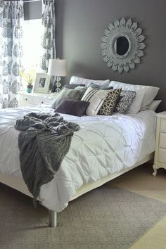 white bedding on bed in master bedroom  i have the west elm  version of this in my guest room - i like the white, Time to replace?
