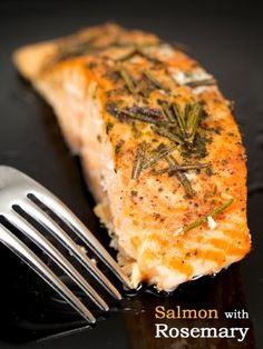 Broiled Salmon with Rosemary - Click for Recipe