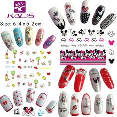 KADS 11sheet/set .Water decal Nail Stickers Cartoon Lovely design nail sticker For nail accessories for water transfer  sticker