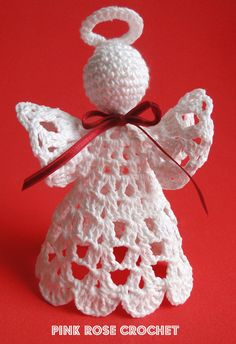 Pink Rose Crochet: Search results Christmas Angel recipeoriginal pattern here: Crochet Wood Bead Circle Christmas Angel Free Pattern Crochet Angel Pattern, Crochet Earrings Pattern, Crochet Angels, Crochet Patterns Amigurumi, Christmas Angel Ornaments, Christmas Crafts For Gifts, String Crafts, Rosa Rose, Crochet Doll Clothes