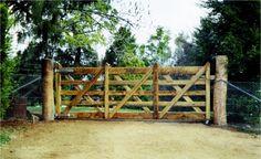 Vineyard Gate - 3.0m Timber Gates, Garden Bridge, Entrance, Vineyard, Hardwood, Outdoor Structures, Wood Gates, Entryway, Natural Wood