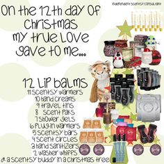 12 Days Of Christmas, the Scentsy way! www.caristuckart.scentsy.us