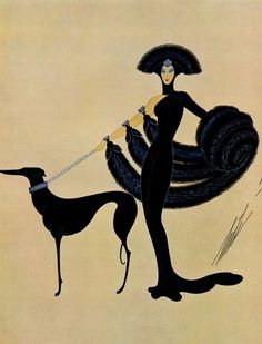 Erté   The Greyhound, one of the oldest breeds; beautiful, elegant, loyal, gentle, kind and frequently depicted in art...        The gre...
