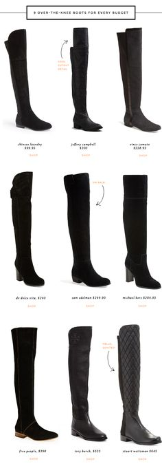 Shop a selection of 9 over-the-knee boots for every budget and style, including a few over-the-knee boots that are on sale.