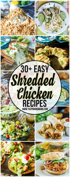 The BIG List of Easy Shredded Chicken Recipes | The Pinning Mama
