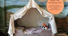 I recently posted some pictures of my son's camping, and as promised I wanted to give you a tutorial on how to make the tent bed. You...