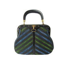 Vintage Roberta Di Camerino Cut Velvet Handbag via REGENERATION