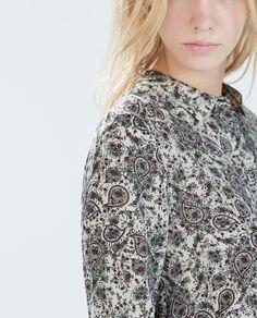 Image 5 of PAISLEY PRINT SHIRT from Zara