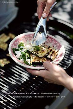 sałatka z grillowanej cukinii Grilling, Garlic, Tacos, Menu, Mexican, Ethnic Recipes, Kitchen, Food, Menu Board Design