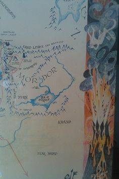 remington map mordor and border detail detail from middle earth