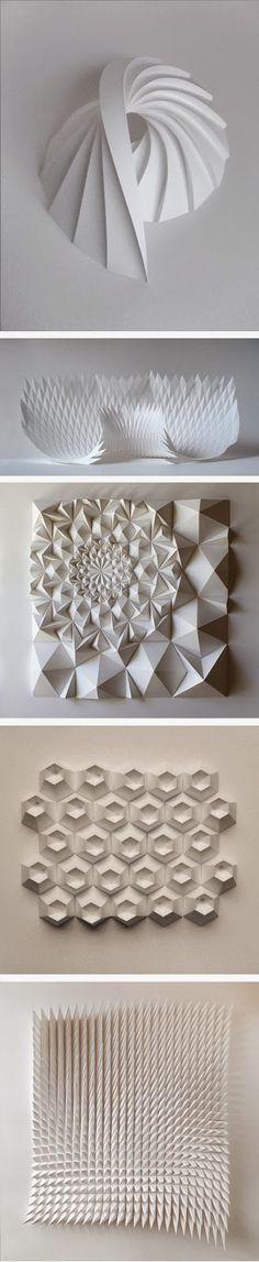 New origami architecture landscape paper art Ideas Art Origami, Origami And Kirigami, Origami Design, Oragami, Paper Engineering, Paper Folding, 3d Paper, Paper Cutting, Book Art