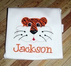 Tiger Shirt Auburn Clemson LSU by NavyBabyDesigns on Etsy, $22.00