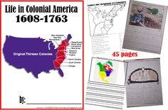 William Penn & Pennsylvania, Puritan Boston & Salem, French in America, Spanish in America, Colonial Expansion & Native Americans, 1700s in Colonial America, 13 Colonies Mapwork & Review, Book Cover. Or click on the image to get the entire Life in Colonial America book.