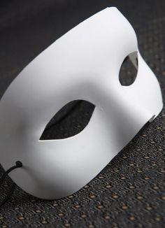 White Half Mask Adult