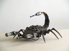 Artist Recycles Old Motorcycle Parts into Steampunk Sculptures (24 pictures)