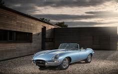 Descargar fondos de pantalla 4k, el Jaguar E-Type de Cero, 2017 coches, coches eléctricos, roadsters, Jaguar