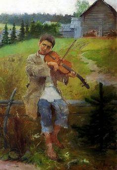 Nikolay Petrovich Bogdanov-Belsky ~ Genre academic painter