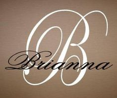 Vinyl Initial Monogram Name Home Wall Quote Decal Sticker Valentine's Gift | eBay