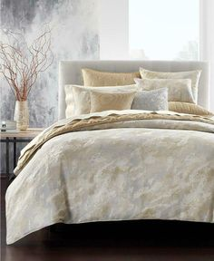 Hotel Collection Metallic Stone Full/Queen Comforter, Created for Macy's - Gold King Comforter, Queen Duvet, Gold Comforter Set, Comforter Cover, Hotel Collection Bedding, Space Furniture, Metallic, Home Decor, Bath