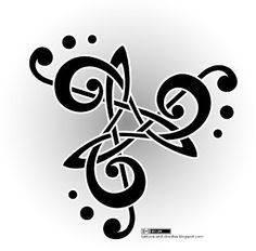 Tattoos and doodles: Music triskele, treble clef