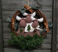 Corona 3 rennine - mooses wreath | Handmade by me Design by … | Flickr