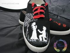 Tenisi pictati Just Married - Piticool ART Just Married, Sneakers, Shoes, Fashion, Tennis, Moda, Slippers, Zapatos, Shoes Outlet