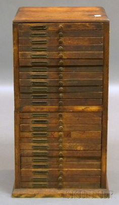 Watchmaker cabinet - in my dream job I'd use a cabinet with many drawers like this one ;)