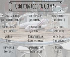 Common German Phrases and Etiquette Tips for Dining Out - Traditional Culture German Grammar, German Words, Learn German, Learn French, German Language Learning, Learn A New Language, French Lessons, Spanish Lessons, Germany Language