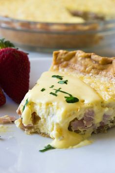 This super easy to make quiche comes out with perfectly flakey crust, creamy egg and bites of canadian bacon. Not to mention it's smothered in an easy to make blender hollandaise sauce. Perfect for brunch and upcoming Mother's Day! Breakfast Quiche, What's For Breakfast, Breakfast Dishes, Breakfast Recipes, Christmas Breakfast, Mexican Breakfast, Breakfast Sandwiches, Sauce Hollandaise, Blender Hollandaise