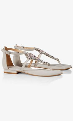 6041ef275d66 Jeweled T-strap Sandal from EXPRESS