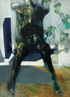 Renzo Vespignani (Italian, 1924-2001), Interno Stil Novo [Stilnovo interior], 1964. Oil on canvas, 122 x 91cm.