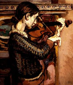 Grant, Duncan - Angelica playing the violin, 1934