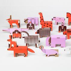 Cardboard zoo