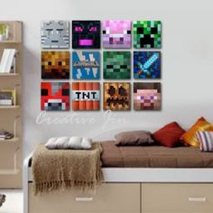 amazing minecraft bedroom decor ideas - Diy Entfernbarer Backsplash