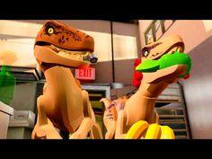 "LEGO Jurassic World Raptors in the Kitchen Scene ""Jurassic Park"" Jurassic World Raptors, Lego Jurassic World, Music Tv, Random Things, Scene, Play, Film, Kitchen, Books"