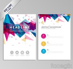 Stylish geometric vector business brochure