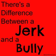 Bullying or Just a Jerk? There is a difference - Bitch & Whine