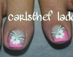 Imagen relacionada Toenail Art Designs, Pedicure Designs, Pedicure Nail Art, Toe Nail Designs, Toe Nail Art, Nail Nail, Purple And Pink Nails, Nail Polish Style, Feet Nails