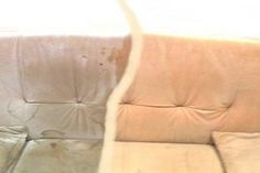Ezzel a módszerrel bármilyen bútorod megtisztíthatod! Mondj búcsút a Throw Pillows, Household Tips, Daily Cleaning, Distilled Water, Cleaning Tips, Cleanser, Husky Jokes, Alcohol, Toss Pillows