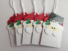 Handmade Santa Gift Card Holders, Christmas, Gift Card - Handmade Santa Gift Card Holders Christmas Gift Card La mejor imagen sobre healthy meal prep para t - Handmade Gift Tags, Handmade Christmas Gifts, Gift Cards Money, Christmas Gift Card Holders, Santa Gifts, Diy Weihnachten, Craft Fairs, Homemade Cards, Christmas Crafts