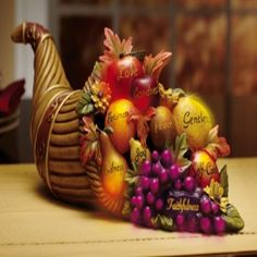 Fall Harvest Table Decorations Color Changing Cornucopia Centerpiece #Generic