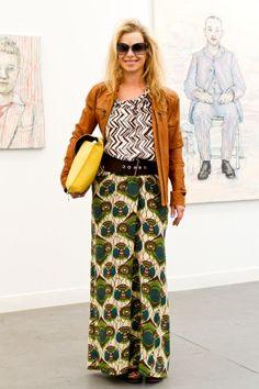 African Wax Print Maxi Skirt